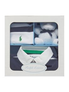 Polo Ralph Lauren Baby boys all-in-one with teddy & hat giftbox set