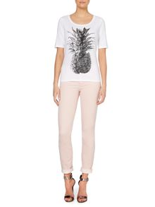 T-shirt with pineapple print