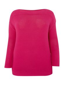 3/4 sleeve round neck jumper