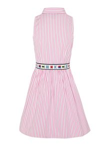 Girls Candy Stripe Small Pony Player Shirt Dress