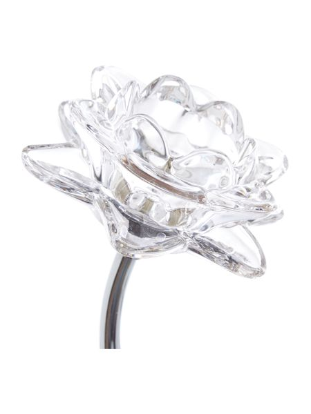 Linea Dahlia 1LT clear flower wall light