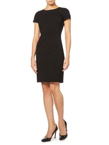 Cap sleeve fitted dress with hardwear