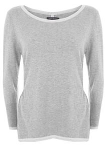 Silver Grey Tipped Knit
