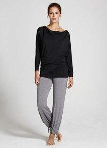 Charcoal Yoga Slouch Top