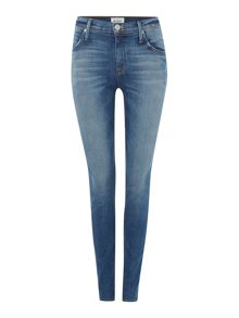 Lynne high rise straight leg with flap pkt jean