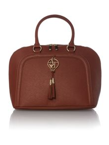 Brown medium saffiano dome bag