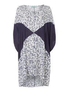 Dickins & Jones Pin spot and Floral kaftan