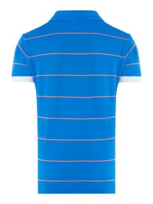 Boys striped small logo polo shirt