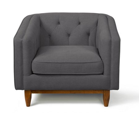 Living by Christiane Lemieux George armchair in stoned linen slate
