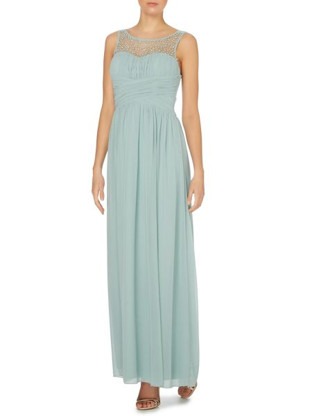 Little Mistress Beaded top maxi dress