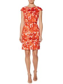 Leslie Floral print dress with layered top