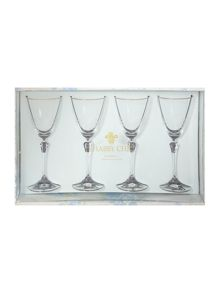 Shabby Chic Gabriella S/4 Red Wine Glasses