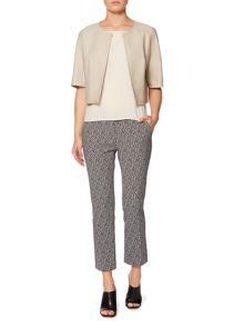 PACCHE cropped bolero jacket with front zip