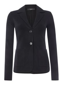 Pepaia one button jersey blazer