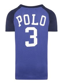 Boys short sleeved small pony raglan t-shirt