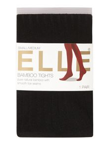 Elle Bamboo 140 denier ribbed opaque tights