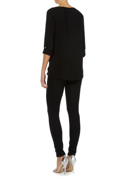 Vero Moda 3/4 Sleeve Fold Up Blouse