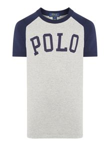 Boys Short Sleeved Polo Graphic Raglan T-Shirt