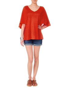 Alia cape sleeve linen knit