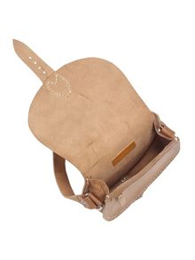 Tessa mini leather saddle bag