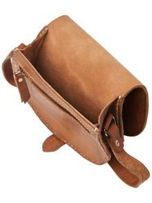 Tara leather saddle bag