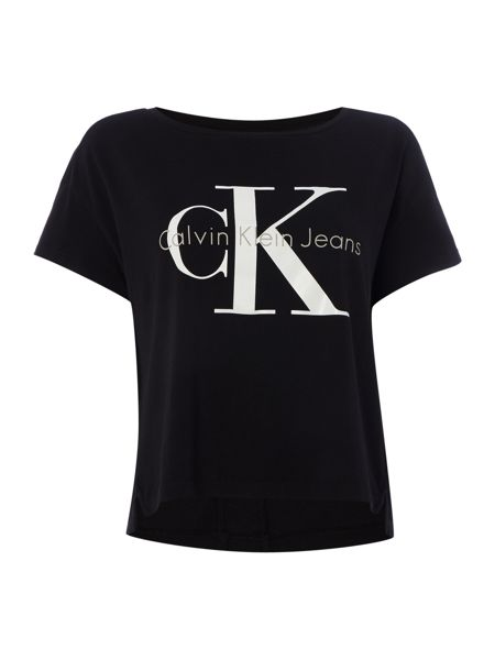 Calvin Klein Short sleeve reissue crop square cut tee