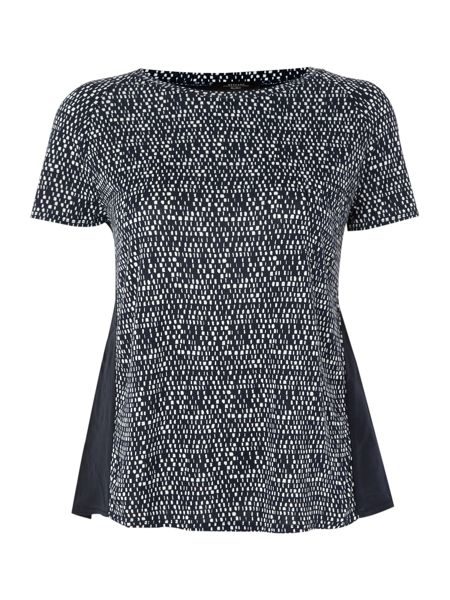 Max Mara Aosta sleeveless silk square print top