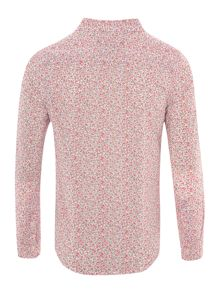 Girls Long Sleeved Floral Shirt With Small Pony