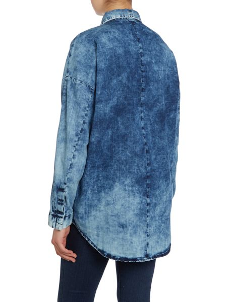 Calvin Klein Ando long sleeve denim shirt in reverse cloud