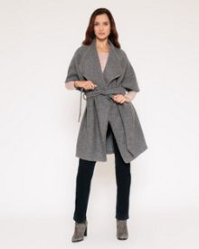 Waterfall Boiled Wool Coat
