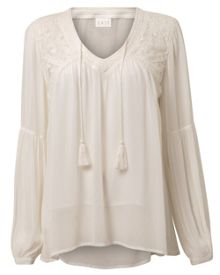 Lace Trim Mesh Top