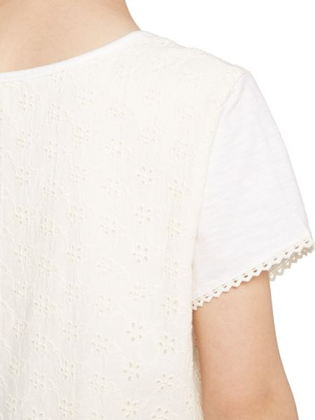 Little Dickins & Jones Lacey Lace Back Tee