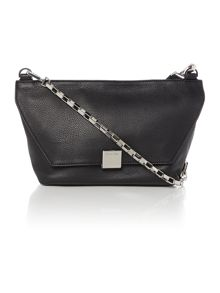 Kate black flap over cross body bag