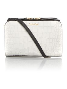 Bea monochrome croc mini cross body bag