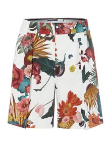 Sportmax Code Pleated floral shorts