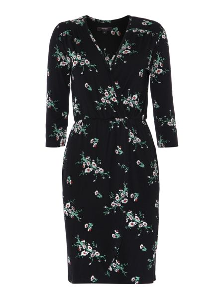 Therapy Daisy print wrap dress