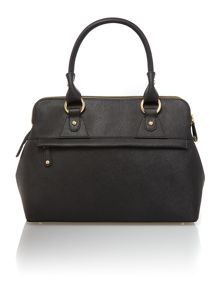 Pippa black large zip tote bag