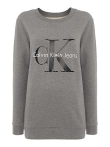 Calvin Klein Long sleeve reissue crew neck logo sweatshirt