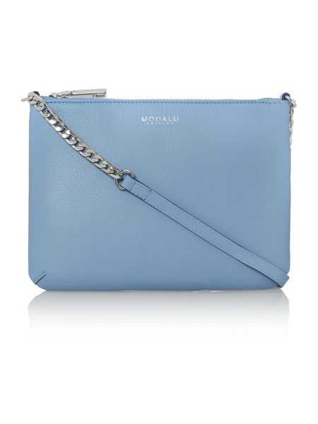 Modalu Twiggy blue chain cross body bag