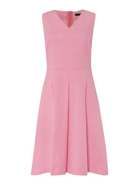 Sportmax Code Sleeveless jacquard waisted dress