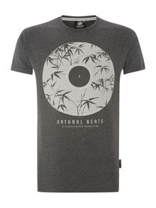 Natural Beats Vinyl Crew Neck Print T Shirt