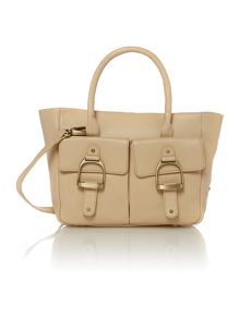 Village England Much Marcle beige pocket tote bag