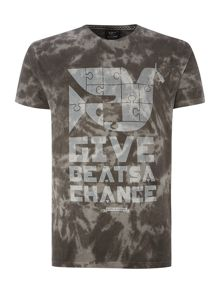 Give Beats A Chance Printed T Shirt