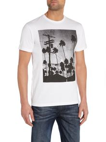 Electric Palms Printed T Shirt