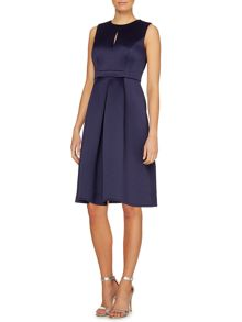 Sleevless keyhole fit and flare dress