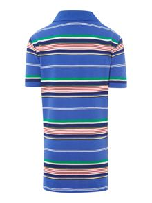 Boys Small Pony Mesh Stripe Polo
