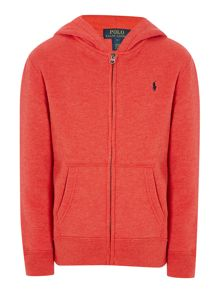Boys Small Pony Zip Thru Hoody