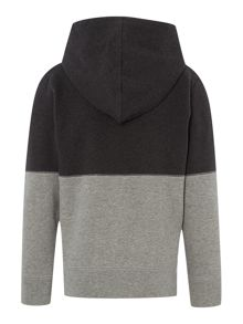 Cooper zip thru contrast panel hoody