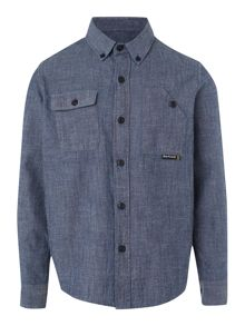 Iron denim chambray shirt