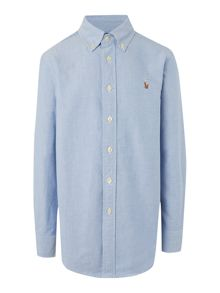 Boys Button Down Oxford Small Pony Shirt